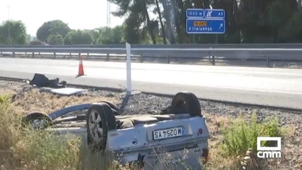 Uno de los vehículos accidentados