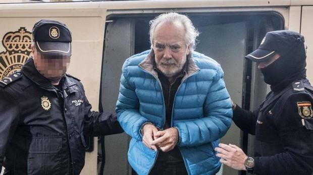 Imagen de archivo de Bartomeu Cursach, cuando fue detenido y trasladado a los Juzgados de Palma en marzo de 2017