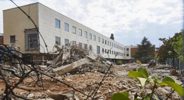 Parte del antiguo Colegio Alemán de la avenida de Concha Espina, ya demolido