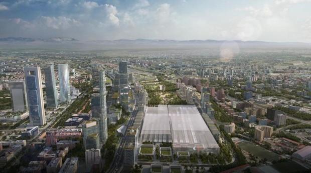 Recreación del proyecto Madrid Nuevo Norte, que se desarrollará sobre Chamartín a partir de 2020