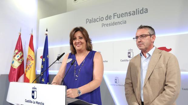 Patricia Franco, consejera de Economía, Empresas y Hacienda, durante la rueda de Prensa