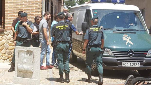 Víctor San Vidal, alcalde de Fontanar, en el momento de su detención