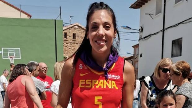 Cristina Ouviña, en el homenaje que le rindió Borobia (Soria)