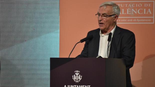 Ribó en la presentación del Centro Mundial de Valencia para la Alimentación Sostenible, este lunes