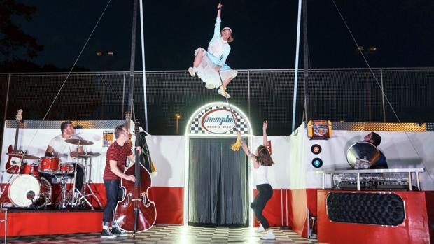 Imagen de archivo de la actuación «Memphis rock & circo»