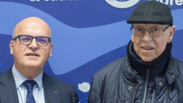 Manuel Baltar, junto a Manuel Penedo