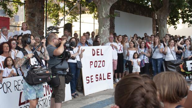 Uno de los momentos de la manifestación del miércoles en Almadén