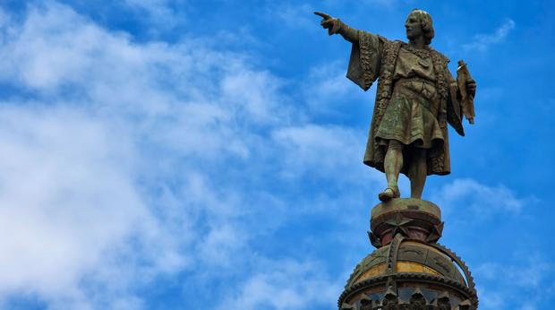 Estatua de Cristóbal Colón en Barcelona