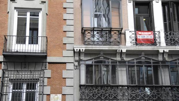 Imagen de archivo de una vivienda en alquiler, en Madrid