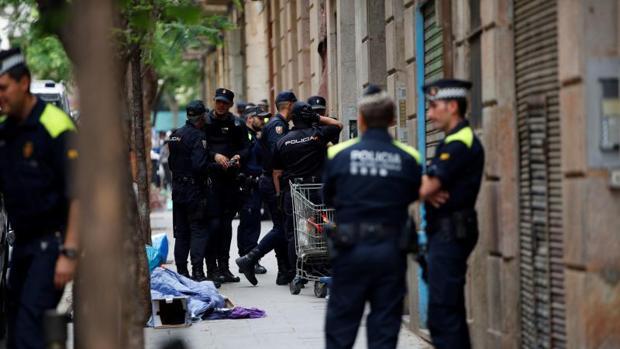 Agentes de varios cuerpos de seguridad, recientemente en Barcelona