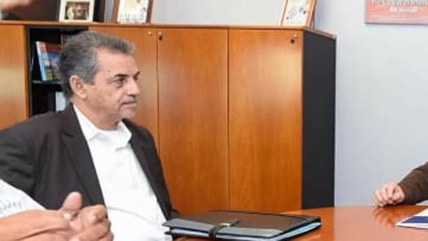 Ghassem Ould Bellaly en una visita a Canarias en 2018