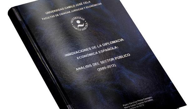 Imagen de la tesis del secretario general del PSOE, Pedro Sánchez