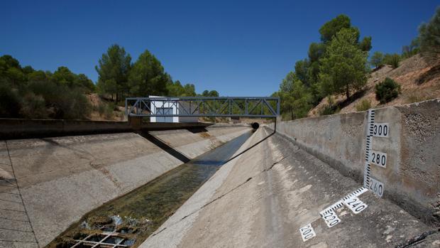 Una de las fases del acueducto del trasvase del Tajo al Segura