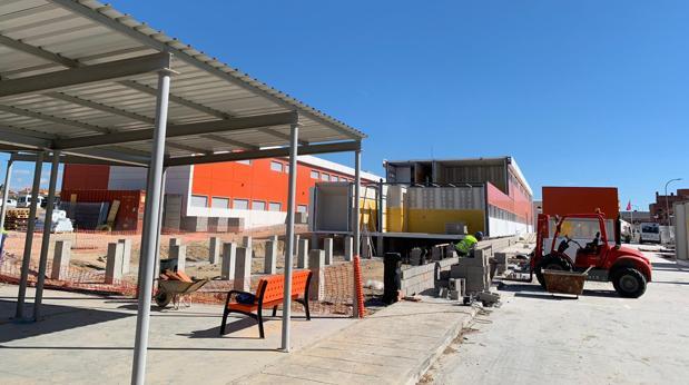 Estado actual de las obras en el centro de Secundaria