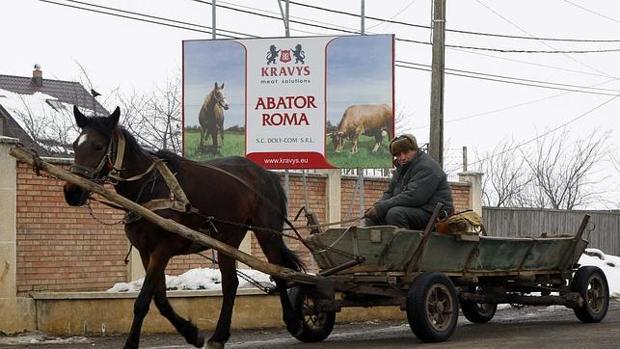 Carro de caballos en imagen de archivo