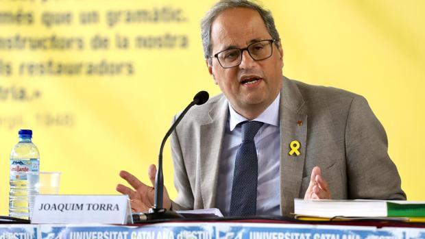 El presidente catalán, Quim Torra, en Francia