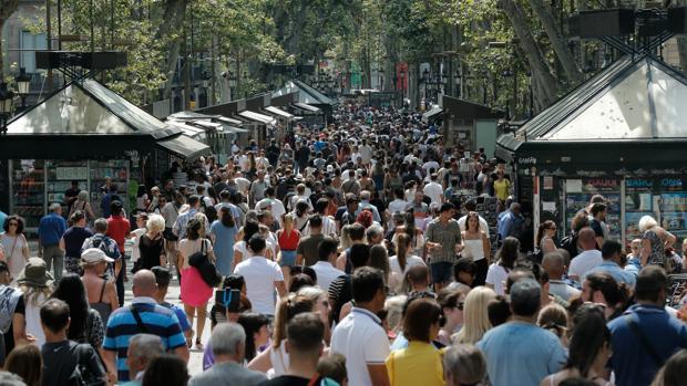 La Rambla de Barcelona, en una imagen de archivo