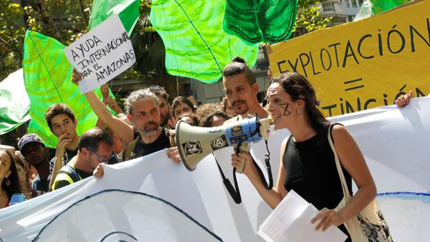 Manifestación ambientalista en Barcelona