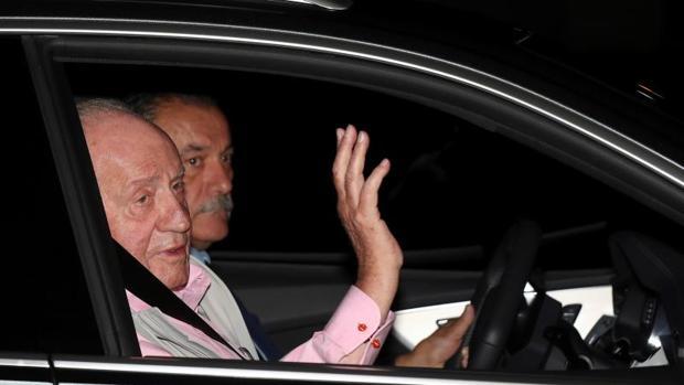 Llegada del Rey Juan Carlos a la Clínica Quirón donde será operado este sábado