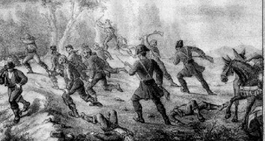 Enfrentamiento de guardias civiles con forajidos