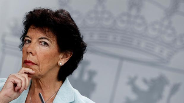 Isabel Celaá, portavoz del Gobierno en funciones