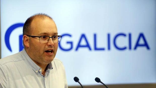 Miguel Tellado, en una rueda de prensa reciente