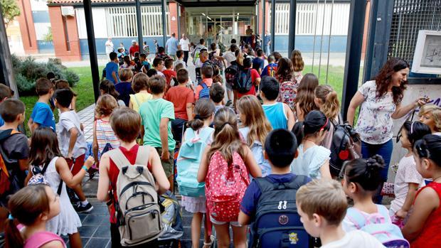 Imagen de archivo del inicio del último curso escolar