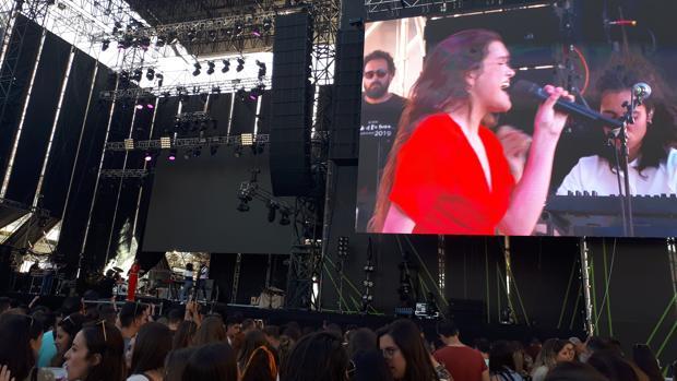 Imagen de la actuación de Amaia Romero en el Festival de Les Arts