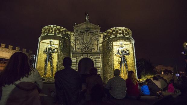 En la imagen de archivo, uno de los espectáculos dedicados a los 40 años de la Constitución Española