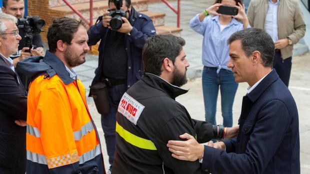 El presidente del Gobierno en su visita a Los Alcázares (Murcia) este sábado