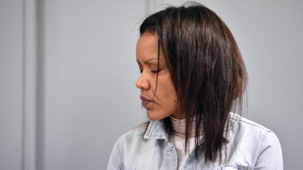 Ana Julia, durante el juicio por el crimen de Gabriel