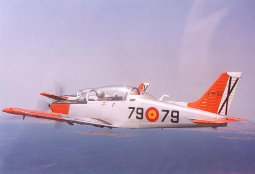 Avioneta Tamiz del Ejército del Aire, utilizada para vuelos elementales del curso de 3º de la Academia