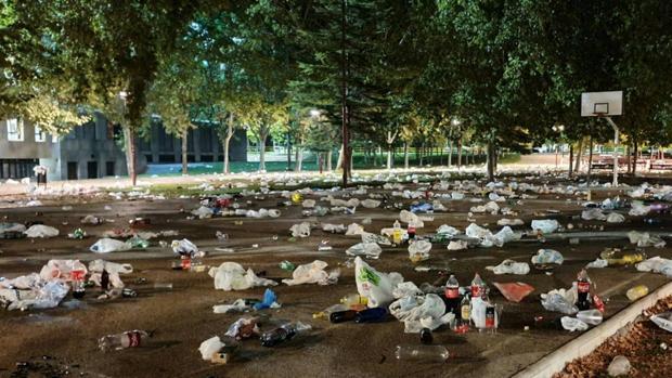 Estado en el que quedó el Parque de los Viveros tras el desalojo