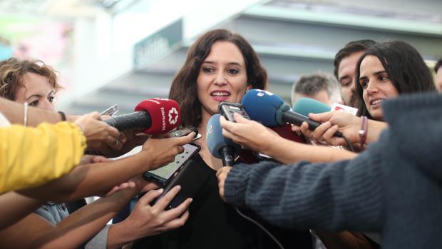 La presidenta Isabel Díaz Ayuso