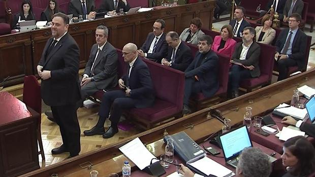Banquillo de los acusados del juicio del «procés»