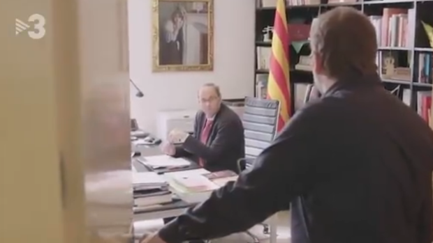 El «teatrillo» de Torra en TV3 cuando Sánchez no le coge el teléfono