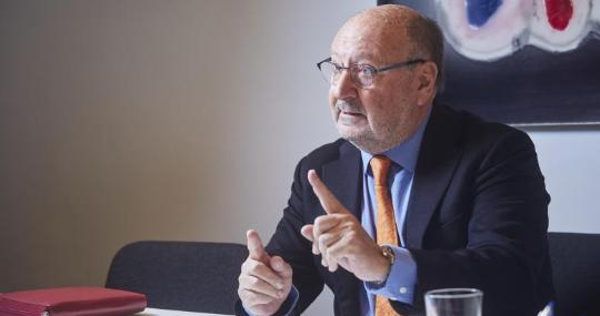 Mariano Gomà durante su entrevista con ABC