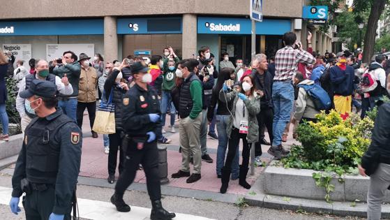 En directo: protesta en el Barrio de Salamanca (Madrid) contra ...