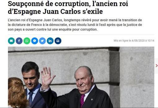 La noticia recogida por el diario belga