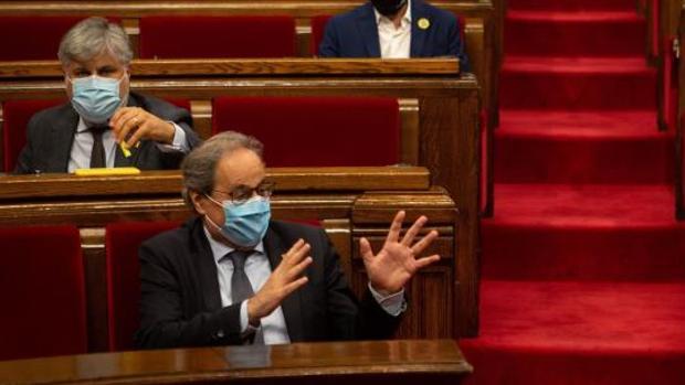 El presidente de la Generalitat en una imagen en el Parlament