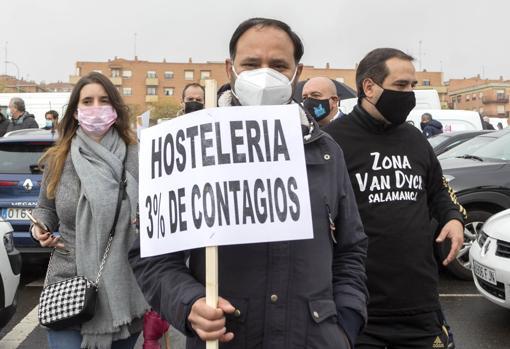 La hostelería de Salamanca paraliza el centro de la ciudad