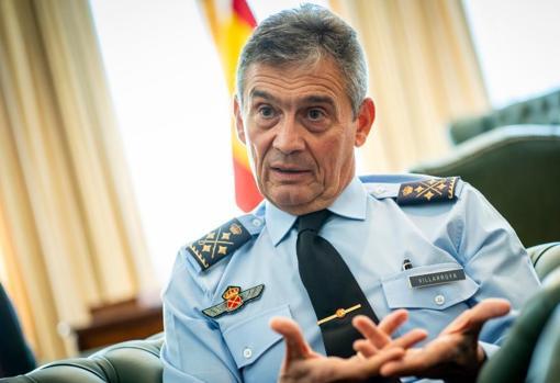 El general Villarroya, en una entrevista con ABC