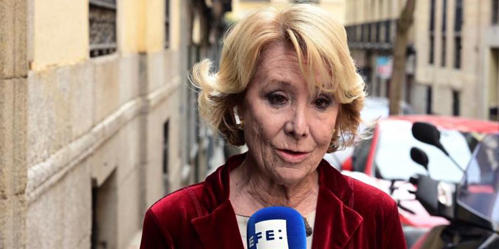 Aguirre compara el trato penitenciario de quienes la señalan en Púnica con el de los reos del «procés»