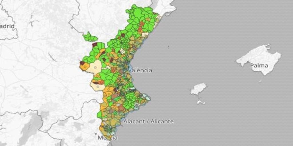 Estos son los municipios valencianos con nuevos rebrotes de coronavirus este sábado