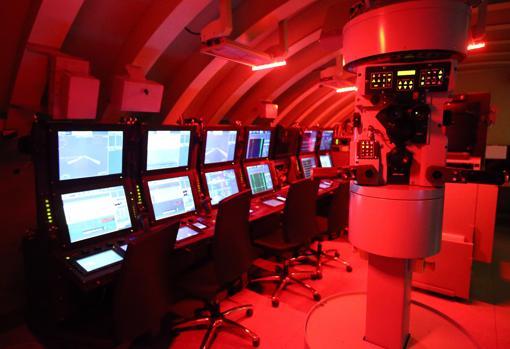 Imagen del puesto de mando del S-81, realizada por ABC desde el simulador de Navantia