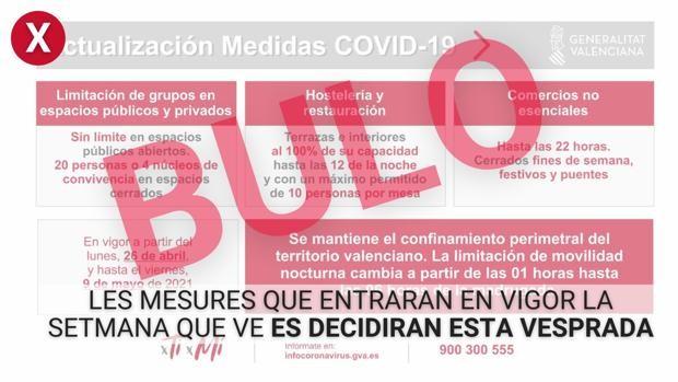 La Generalitat Valenciana Alerta De Un Bulo Sobre Las Restricciones Aprobadas Este Jueves