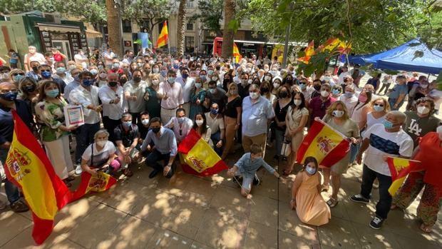 Imagen del acto de protesta del PPCV