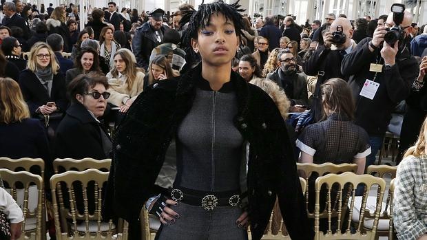 Willow Smith en el desfile de Chanel de la Semana de la Moda de París el martes pasado