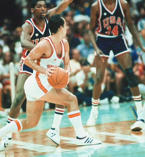 Juan Antonio Corbalán en la final olímpica EE. UU. -España, de los Juegos de Los Ángeles de 1984