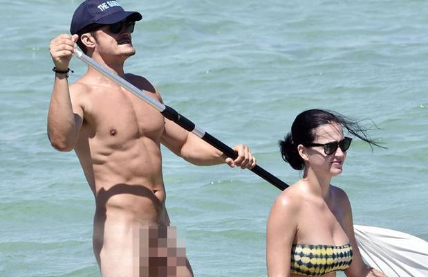 Orlando Bloom junto a su expareja, Katy Perry